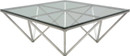 Nuevo Origami Coffee Table  Brushed Stainless Steel