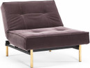 Splitback Chair With Brass Legs