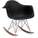 Mid Century Black Modern Rocking Chair