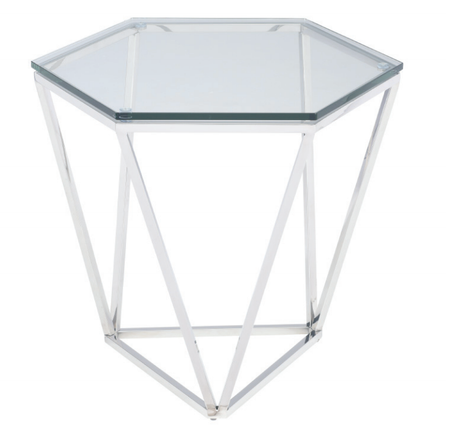 Louisa Side Table Polished Stainless Steel