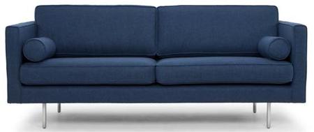 Cyrus Three Seater Azure Blue