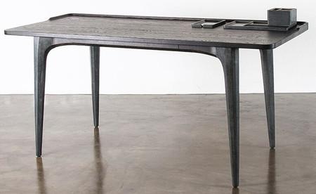 Salk Desk Seared Oak