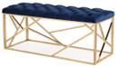 Clementine Navy Blue Long Bench