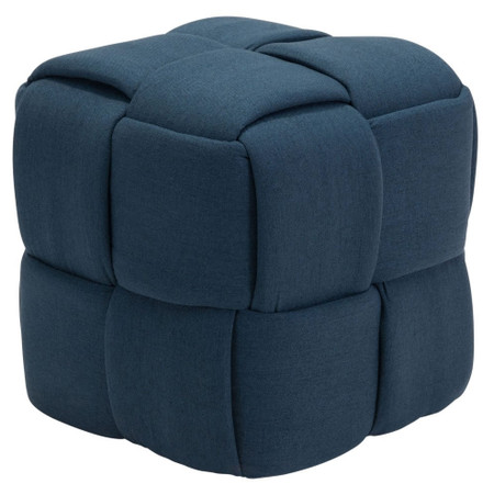 Checks Stool Navy Blue