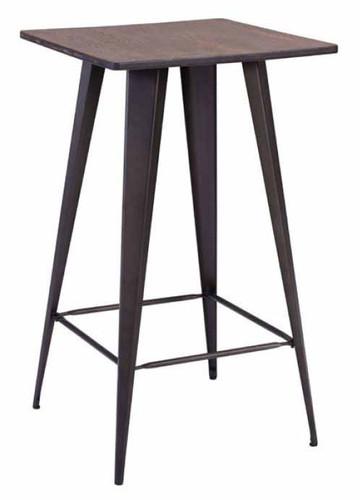 Titus Bar Table Rusty & Bamboo Wood Top
