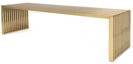 brushed brass bench