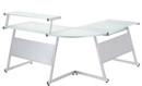L Shape Corner Desk Silver