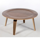 Molded plywood coffee table - Walnut