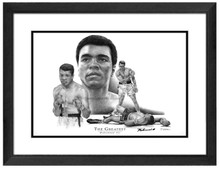 Muhammad Ali Print - Matted and Framed in Black