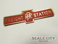 PRE-FINISHED PRR Pennsylvania FREIGHT STATION Sign