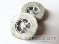 48-1306 Semi Truck Trailer wheels tires O Scale Replace Brass trailer tires