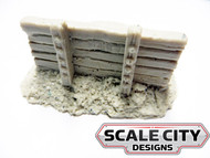 48-652 TRACK BUMPER EARTH & TIE RESIN O SCALE FKA KEIL LINE
