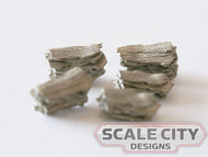 48-690 Small Scrap Metal Piles O scale