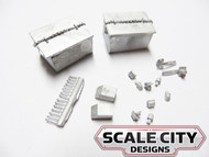 48-167 BATTERY VAULT RECTANGULAR STYLE O SCALE FKA KEIL LINE 2 /3 RAIL
