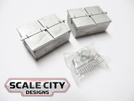 48-204 BATTERY VAULT DOUBLE RECTANGLE STYLE O SCALE FKA KEIL LINE 2 / 3 RAIL