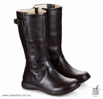Tip Toey Joey Junior Boots Shoes - BLACK TOSCANA - Girls Black Winter Boots