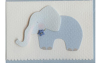 Blue Elephant W/Button Gift Card