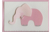 Pink Elephant W/Button Gift Card