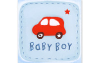 Little Chipipi Playtime Greeting Card - Baby Boy Car