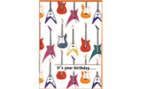 Electric Guitars Card