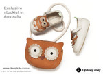 Owl Handbag with Owlly Baby Shoes (shoes - display only)