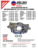 Melling High Volume Oil Pump LS Engine Family M295HV