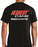 Herbert Cams Black T-shirt back view