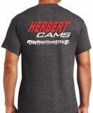 Herbert Cams T-Shirt Charcoal Grey / Back View