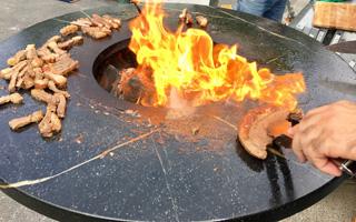 Soapstone Firepit BBQ Grill