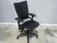 Allsteel Black Leather Task Chair