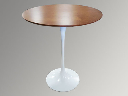 Cherry Bar Height Table with White Base