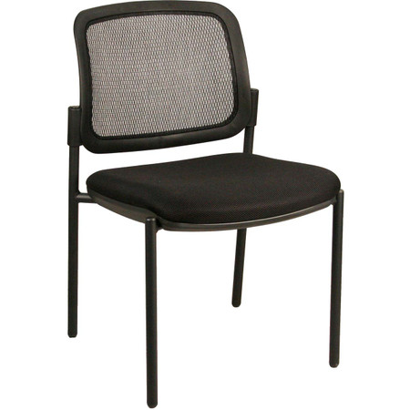 Express Mesh Back Armless Guest Chair with Padded and Upholstered Seat