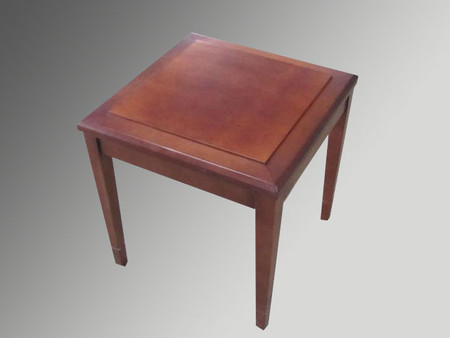 "20"" x 20"" Dark Cherry Side Table"