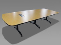 10' Prismatique Maple Conference Table