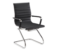 DMI Pantera Series Black Vinyl Sled Base Guest Chair