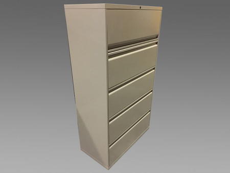 OFS 5 Drawer Lateral File, Beige