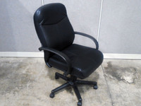 Boss Black Vinyl Conference Chair