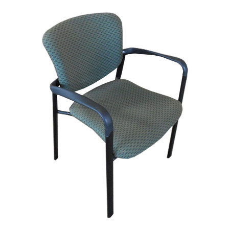 Haworth Improv Side Guest Chair, Green Cushion