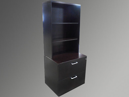 Gunlocke 2 File Drawers and Bookcase Combination Unit
