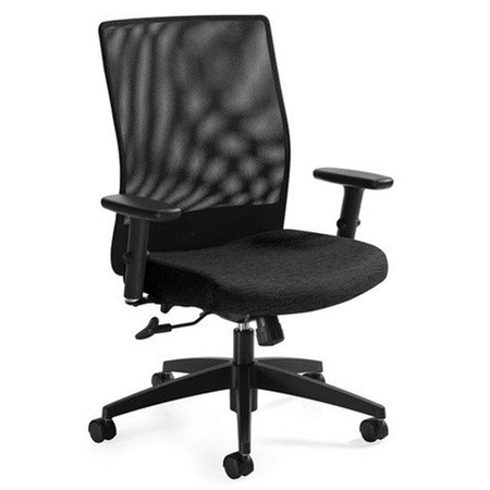 Global Weev™ Mesh Mid-Back Task Chair, Black