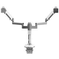 M/Flex, Humanscale's multi-monitor arm system, can go from one to six monitors, without the need for tools.