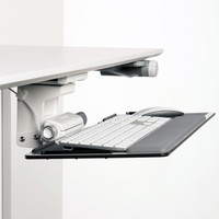 As reach and vision drive posture, an articulating keyboard system allows the user to sit in a healthy, neutral posture