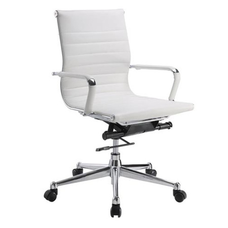 DMI Pantera Series White Vinyl Executive Conference Chair