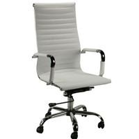 DMI Pantera Series High Back White Vinyl Conference Chair