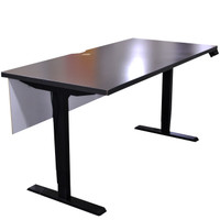 Friant Height Adjustable Table with Glass Modesty Panel