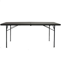 "Black 30"" x 72"" Folding Training Table"