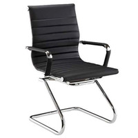 DMI Pantera Series Black Vinyl Guest Chair