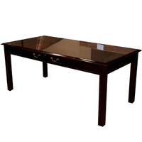 "36"" x 72"" Traditional Mahogany Veneer Table Desk"