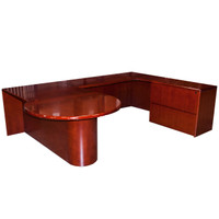 Cherryman Wood Veneer U-Shape Desk