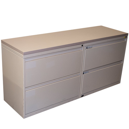 Kimball® Beige Two Drawer Metal Lateral File